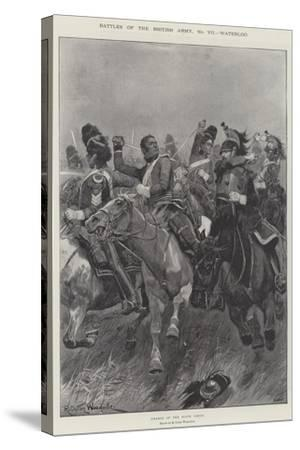 Battles of the British Army, Waterloo-Richard Caton Woodville II-Stretched Canvas Print