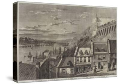 The Visit of the Prince of Wales to Canada, the Citadel of Quebec, from Prescott Gate-Richard Principal Leitch-Stretched Canvas Print