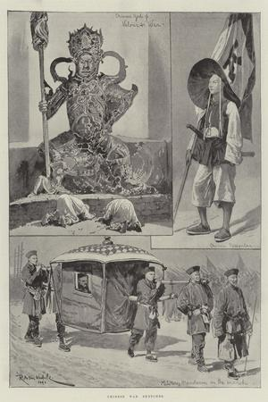 Chinese War Sketches-Richard Caton Woodville II-Stretched Canvas Print