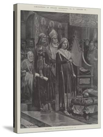 Coronations of English Sovereigns, Edward Iii-Richard Caton Woodville II-Stretched Canvas Print