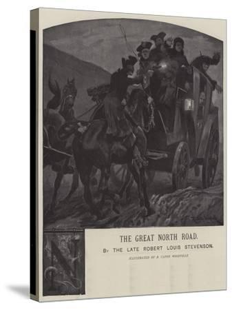 Illustration for the Great North Road-Richard Caton Woodville II-Stretched Canvas Print