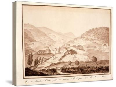 View of Montioni, Taken from the Middle of the Vine, 1812-Salomon Guillaume Counis-Stretched Canvas Print