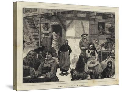 Human Hair Market in Alsace-Robert Walker Macbeth-Stretched Canvas Print