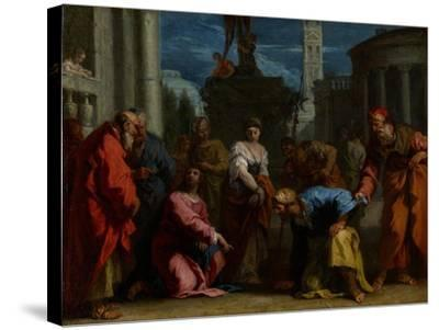Christ and the Woman Taken in Adultery, C.1710-Sebastiano Ricci-Stretched Canvas Print