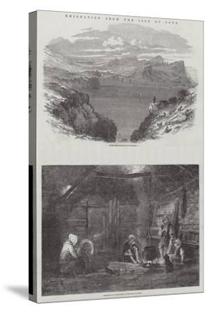 Emigration from the Isle of Skye-Samuel Read-Stretched Canvas Print