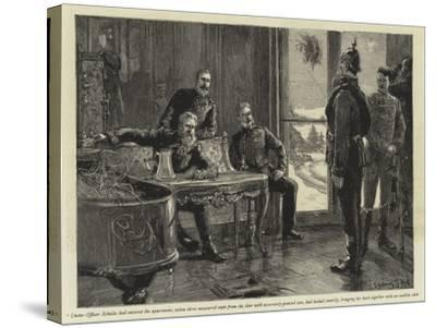 Under-Officer Schultz Had Entered the Apartment-Sydney Prior Hall-Stretched Canvas Print