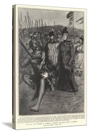 The Duke and Duchess of Cornwall Watching the Royal Haka at Rotorua-Sydney Prior Hall-Stretched Canvas Print