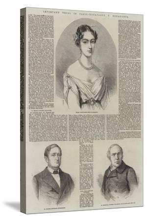 Important Trial in Paris, Bonaparte V Bonaparte-Thomas Harrington Wilson-Stretched Canvas Print