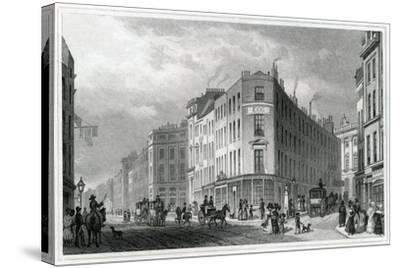 Piccadilly, from Coventry Street, 1830-Thomas Hosmer Shepherd-Stretched Canvas Print