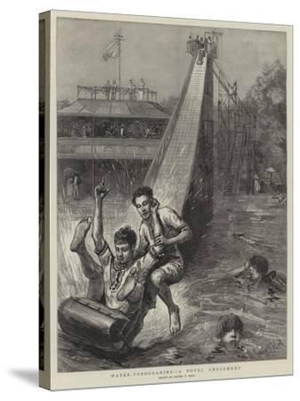 Water-Tobogganing, a Novel Amusement-Sydney Prior Hall-Stretched Canvas Print