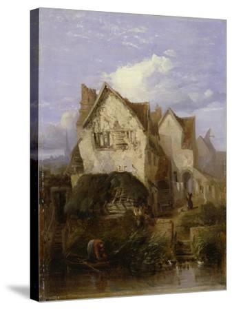 A View Near Norwich-Thomas Lound-Stretched Canvas Print