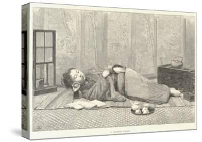 A Japanese Pillow-Thomas Harrington Wilson-Stretched Canvas Print