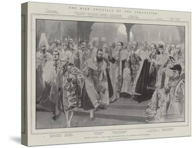 The High Officials of the Coronation-Thomas Walter Wilson-Stretched Canvas Print