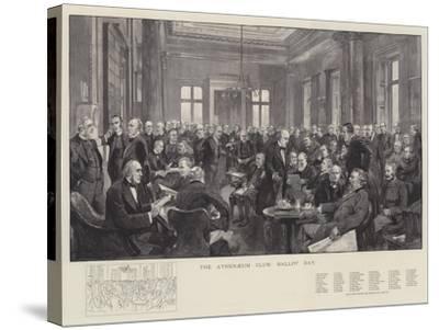 The Athenaeum Club, Ballot Day-Thomas Walter Wilson-Stretched Canvas Print
