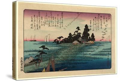 Haneda No Rakugan-Utagawa Hiroshige-Stretched Canvas Print