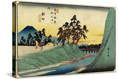 No.12 Shinmachi, 1830-1844-Utagawa Hiroshige-Stretched Canvas Print