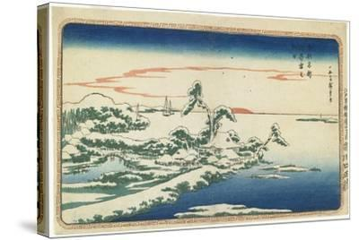 New Year's Day Sunrise at Susaki in Snow, C. 1831-Utagawa Hiroshige-Stretched Canvas Print