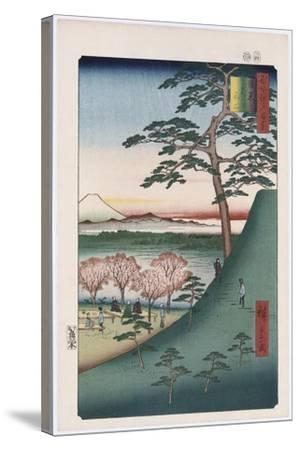 Original Fuji, Meguro', from the Series 'One Hundred Views of Famous Places in Edo'-Utagawa Hiroshige-Stretched Canvas Print