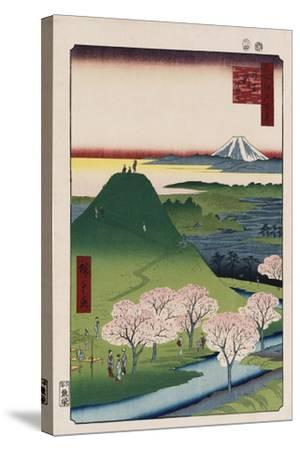 New Fuji, Meguro', from the Series 'One Hundred Views of Famous Places in Edo'-Utagawa Hiroshige-Stretched Canvas Print