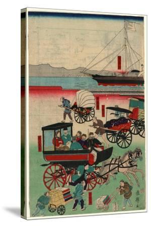 Atarashii Norimono-Utagawa Kuniteru-Stretched Canvas Print