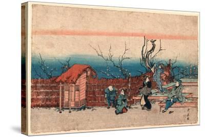Kameido Umeyashiki-Utagawa Kunitora-Stretched Canvas Print