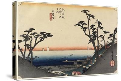 View of Shiomi Slope, Shirasuga, C. 1833-Utagawa Hiroshige-Stretched Canvas Print