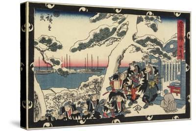 The Place of Offering Incense, 1843-1847-Utagawa Hiroshige-Stretched Canvas Print