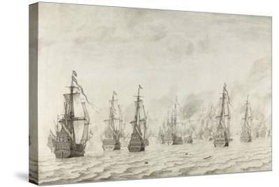 The Battle of Dunkirk, 1659-Willem van de Bettes the Younger-Stretched Canvas Print