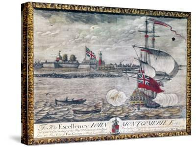 To His Excellency John Montgomerie Esq. (View of Fort George)-William Burgis-Stretched Canvas Print