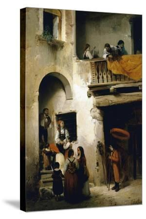 Viaticum, 1858-William Castoldi-Stretched Canvas Print