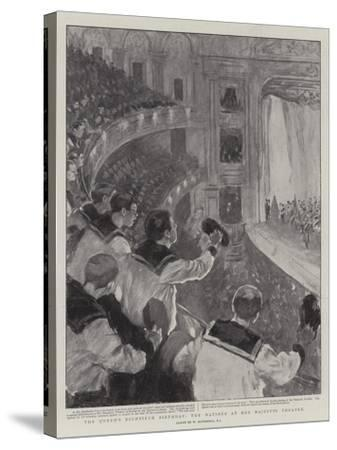 The Queen's Eightieth Birthday, the Matinee at Her Majesty's Theatre-William Hatherell-Stretched Canvas Print