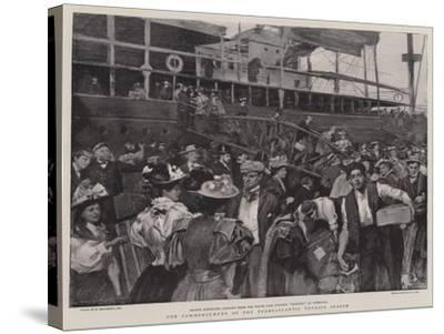 The Commencement of the Transatlantic Tourist Season-William Hatherell-Stretched Canvas Print