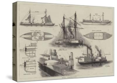 HMS Inflexible-William Edward Atkins-Stretched Canvas Print