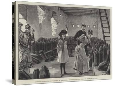 A Reminiscence of the Bombardment of Alexandria, Tourists Inspecting Shells in the Ras-El-Tin Fort-William Heysham Overend-Stretched Canvas Print