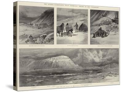 The Jackson-Harmsworth Polar Expedition, Return of the Windward-William Heysham Overend-Stretched Canvas Print