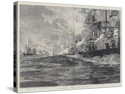 The Naval Manoeuvres, Action Off the Isle of Man, 3 August-William Heysham Overend-Stretched Canvas Print