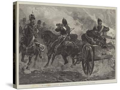 The Royal Review at Aldershott-William Heysham Overend-Stretched Canvas Print