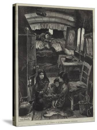 Sketches of Gipsy Life, Interior of Van Near Latimer-Road, Notting-Hill-William Heysham Overend-Stretched Canvas Print