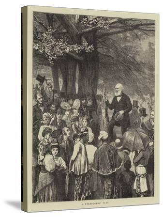 A Foreigners' Fete-William III Bromley-Stretched Canvas Print