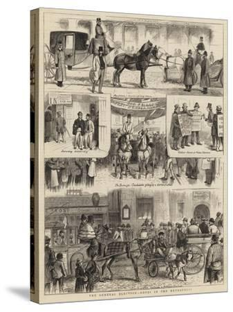 The General Election, Notes in the Metropolis-William Ralston-Stretched Canvas Print