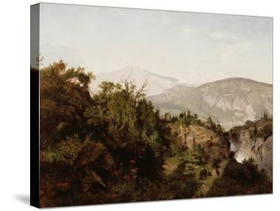 In the Adirondack Mountains, 1857-William Trost Richards-Stretched Canvas Print