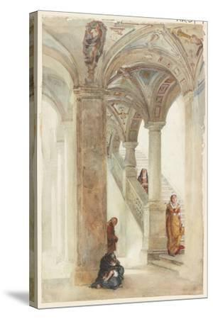 The Staircase of a Palace-William Wood Deane-Stretched Canvas Print
