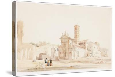 In the Forum, Rome-William Wood Deane-Stretched Canvas Print
