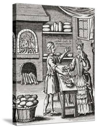A 16th Century Baker's Shop. from Illustrierte Sittengeschichte Vom Mittelalter Bis Zur Gegenwart b--Stretched Canvas Print