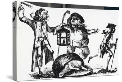 Anatomist Surprised by the Nightwatch Man While Transporting a Corpse in a Basket--Stretched Canvas Print
