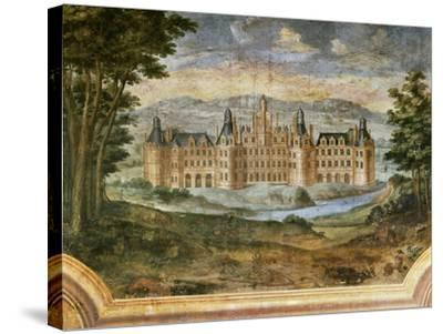 Castle of Chambord--Stretched Canvas Print