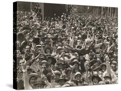 Crowd in Martin Place--Stretched Canvas Print