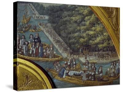 Festivities on Grand Canal of Versailles--Stretched Canvas Print