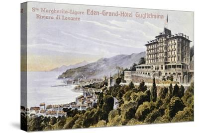 Eden Grand Hotel Guglielmina in Santa Margherita Ligure--Stretched Canvas Print