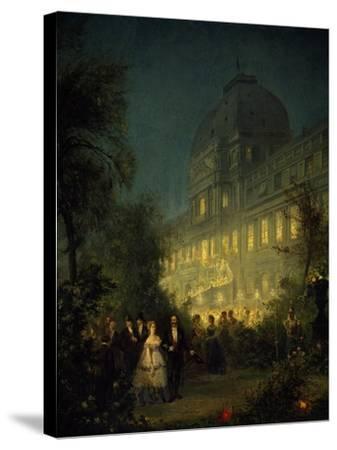 Evening Party at Tuileries During Second Empire--Stretched Canvas Print
